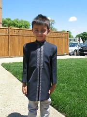 Matthew dressed up