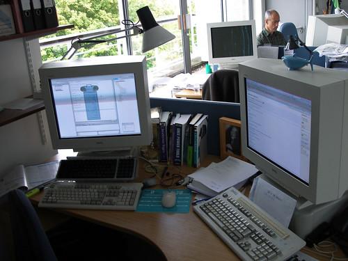 office setup   by Rob 'n' Rae