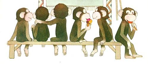 bonobos sentaditos