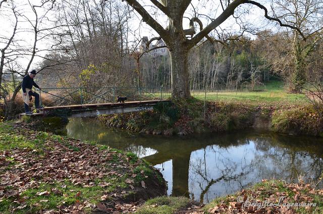 Le pont sur la Lède sous le château de Rastouillac