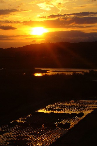 sunset reflection japan landscape geotagged snap panasonic toyama fx8 eba panasonicfx8 dmcfx8 富山 eba317 jinzuriver geo:lat=36690205 geo:lon=1372006589 eba317theworldaccordingtome hirofumiebata