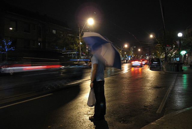 College St., Saturday night, rain (1)