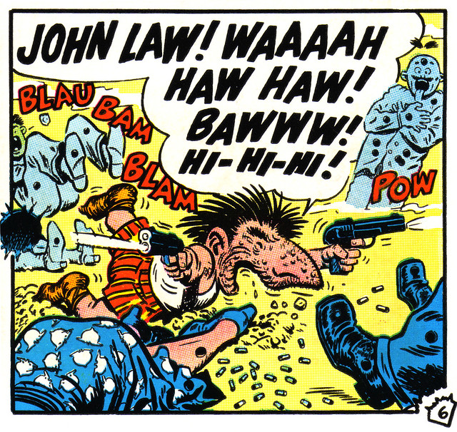 Mole! - John Law | A panel from the classic comic
