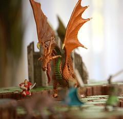 Heroscape: dragon stalks samurai | by gillianchicago