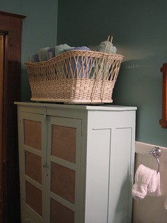 After - More Pie Safe, and Towel Basket | by lla