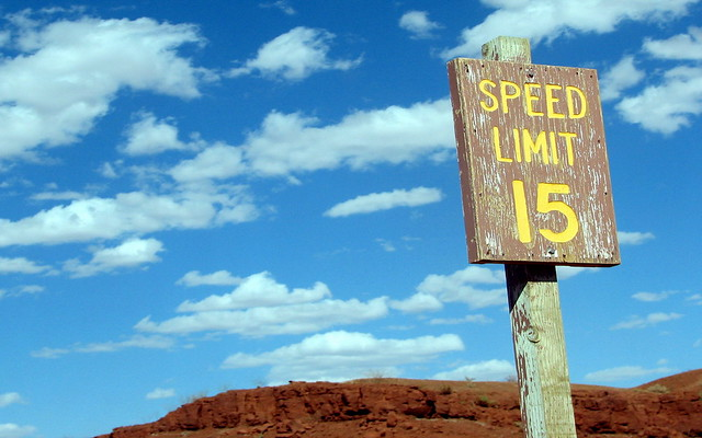15 Speed Limit Sign | 15 Speed limit sign in Monument Valley… | Flickr