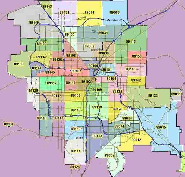 Las Vegas Nv Zip: Las Vegas - Zip Codes 2