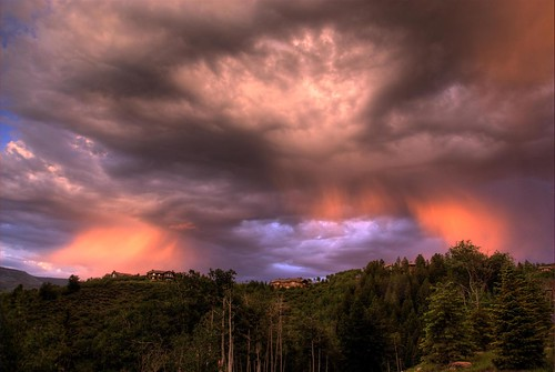trees houses homes sunset mountain storm silhouette architecture clouds skyscape hotel colorado resort ridge ritz aspen spruce hdr photomatix skyarchitecture 200706 anawesomeshot