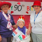 Miki, Irva and Red Hat Mayor Lena Johnson