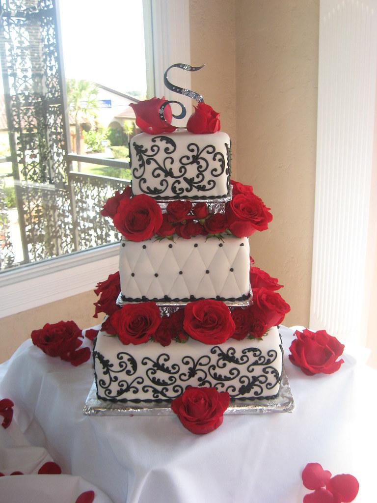 Red black and white wedding cakes (4)   Wedding cake red ...   Affordable Wedding Cakes Black And Red