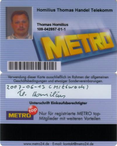20070613metro Kundenkarte Metro Kdnr 109 042857 Flickr