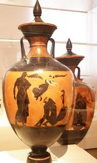 Figuras negras ceramica Museo Arqueologico Nacional de Atenas Grecia 137
