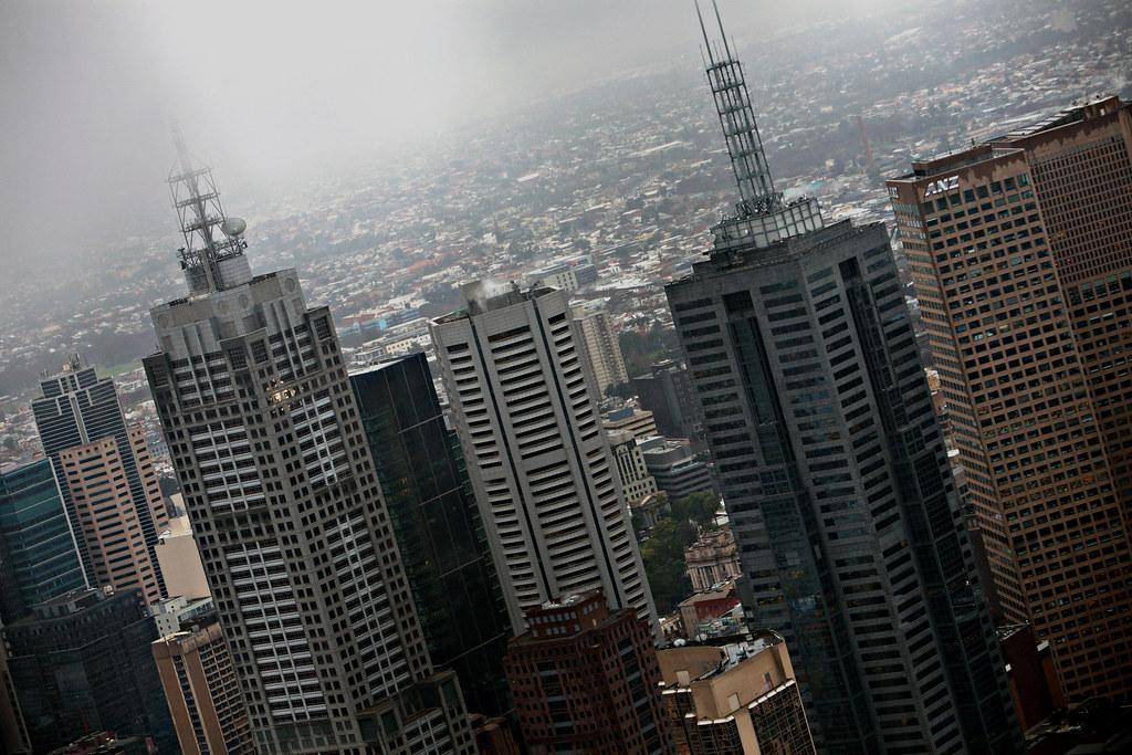 Image: Rainy Melbourne Skyline