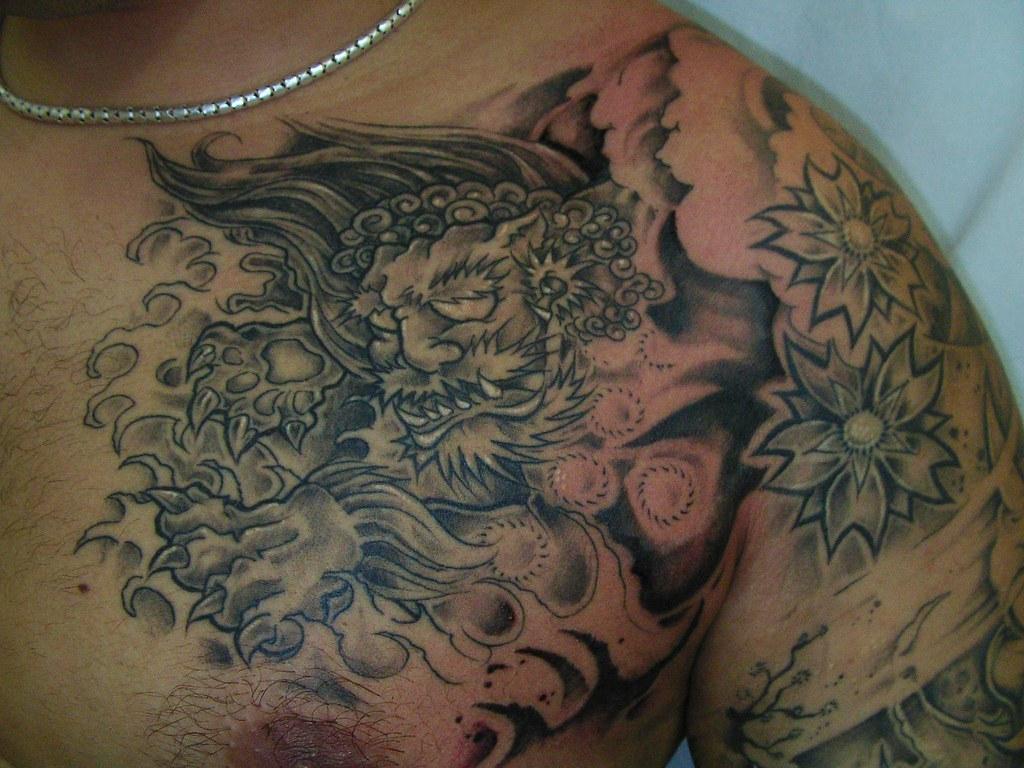 Foo Dog Tattoo Crosstown Tattoo Studios Flickr