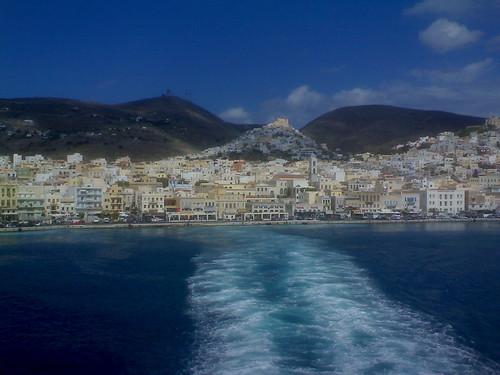 Sailing from Syros port   by JohnKarak