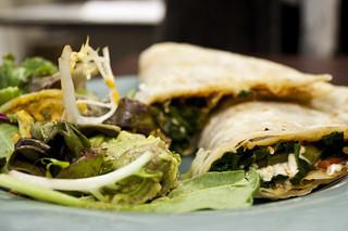 Spinach Quesadilla from Loving Hut