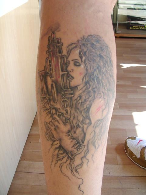 female warrior tattoo