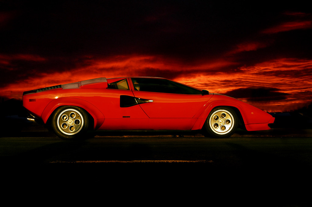 Lamborghini Countach When I Saw My Original Shot Of This C Flickr