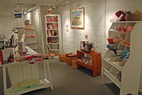 craft basement at Edith & Edna - Portland, Maine | by SouleMama