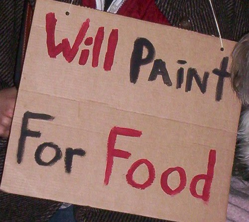 Will paint for food | by becky.sm