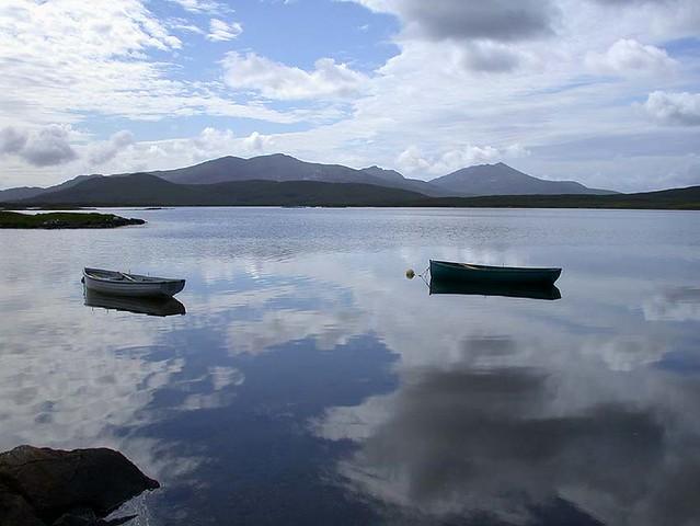 South Uist hills from Loch Bi, July 2005