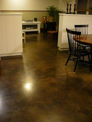 Condo floor acid-dyed concrete | by Josh and Melanie Rosenthal