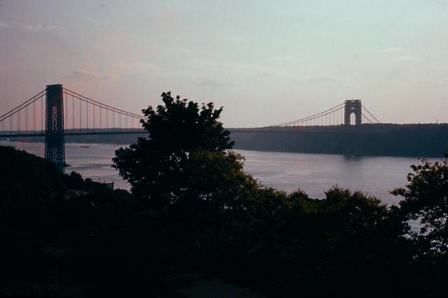 19580700S-R29  George Washington Bridge  Hudson River  c July 1958