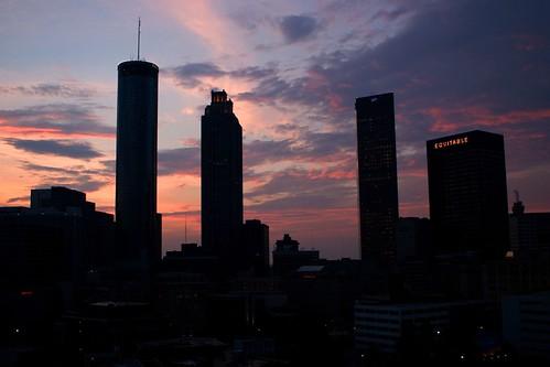atlanta sky usa skyline clouds sunrise ga buildings silhouettes amanecer cielo nubes nuvens ceu amanhecer anawesomeshot