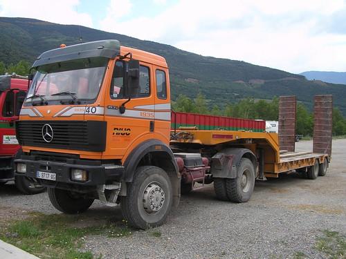camió Mercedes Benz a Sort (Pallars Sobirà - Lleida)