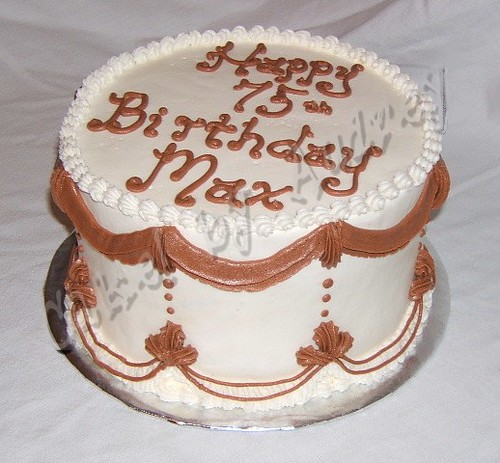 Terrific Classic Birthday Cake Traditional Swags With Shell Border Flickr Funny Birthday Cards Online Aeocydamsfinfo