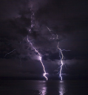 Lightning on the Columbia River | by phatman