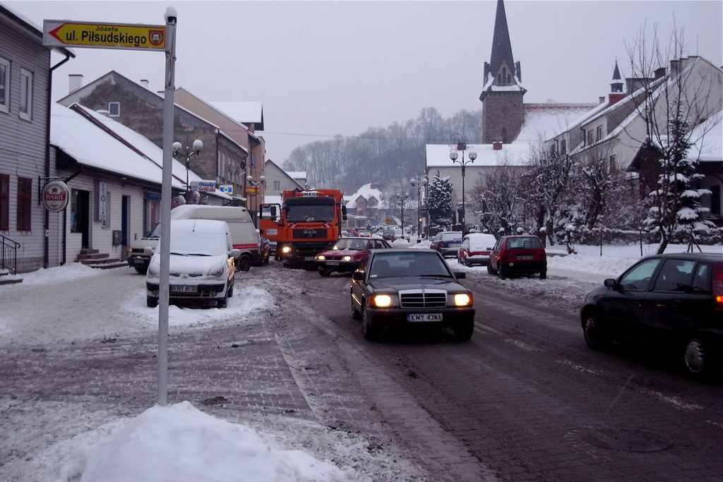 Korek na Rynku / Main street traffic jam