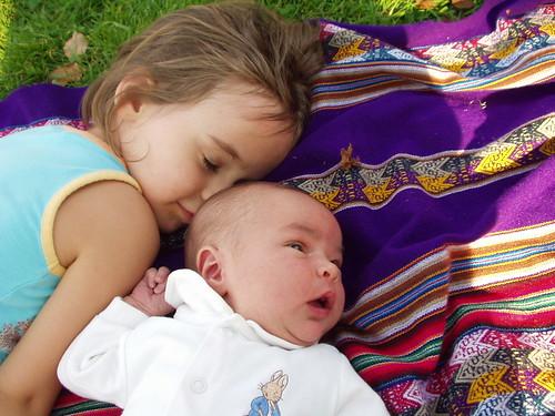 Avi falling in love with her new baby sister | Avigail Joy ...