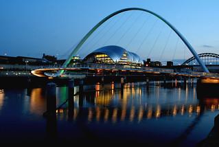 Millennium bridge at night | by ahisgett