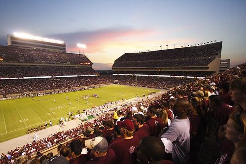 sunset football dusk stadium crowd event aggie texasam kylefield 12thman clarkmoody kylefieldsunset