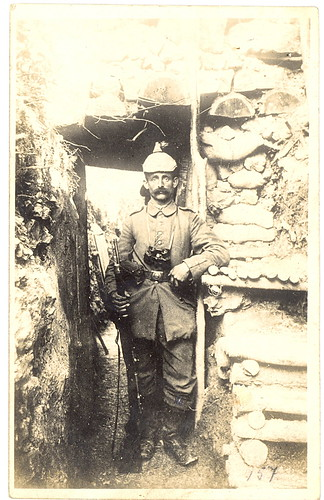 WWI German Infantryman Heinrich Merkel with 2nd Class Iron Cross Ribbon in the Trenches 1915 | by sunnybrook100