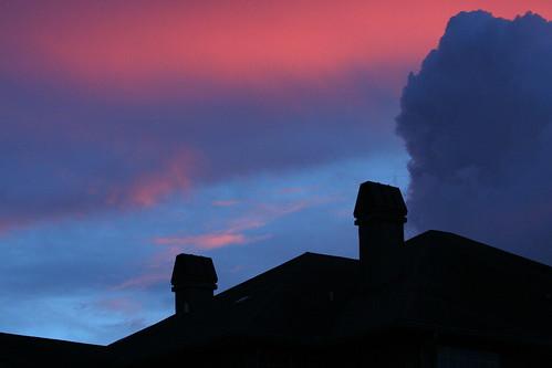 pink blue sunset sky orange cloud silhouette clouds skyscape raw dpp cloudscape 30d canon30d canonef70200mmf4lusm rentedlens rentallens ziplens ziplenscom chrislin christopherlin