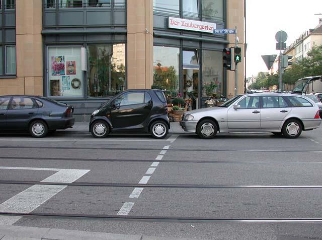 Smartcar vs. Mercedes Wagon