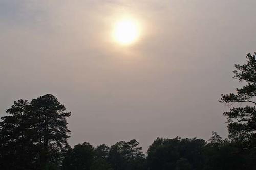 sun smoke alabama 2007 memorialdayweekend southgeorgiawildfires