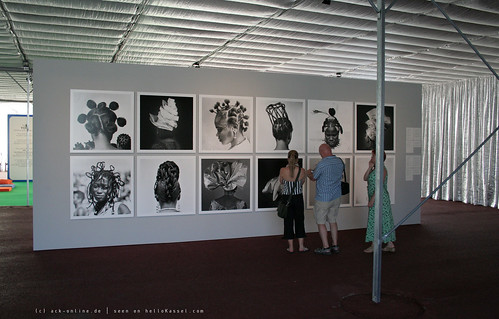 documenta 12 | J.D.'Okhai Ojeikere / Hairstyles & Headgear Series | Aue-Pavillon | by A-C-K