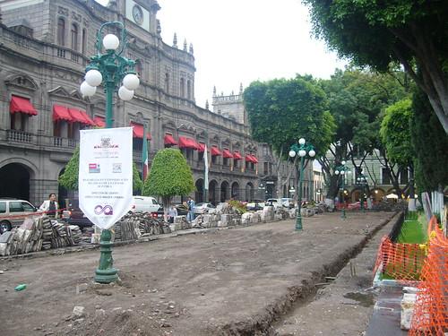 El zócalo de Puebla