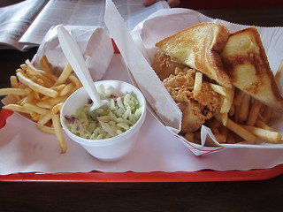 fries cole slaw fried chicken | by tastytouring