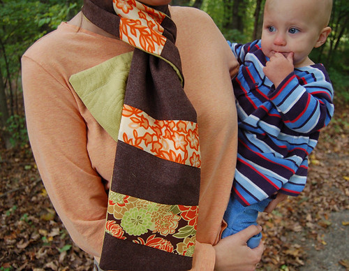 scarf on neck, babe on hip | by SouleMama