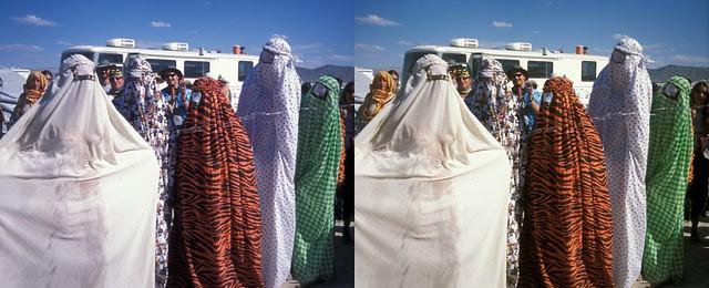 Wet Burka Contest  -  Burning Man '03  (3D Cross-View)