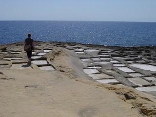 Gozo, stone for salt, Malta 077