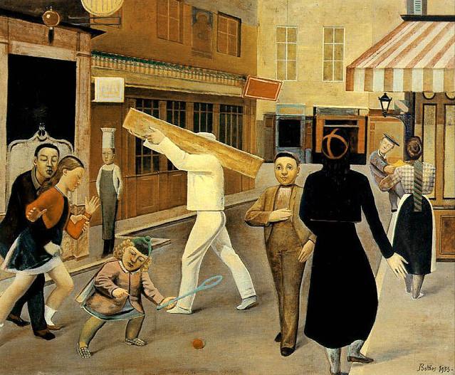 La Rue, 1937. Balthus