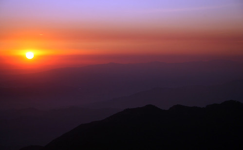 sunset red sky sunrise los angeles mount wilson veipe