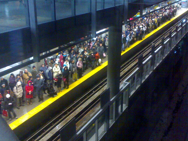 Crowded Commercial Drive Station