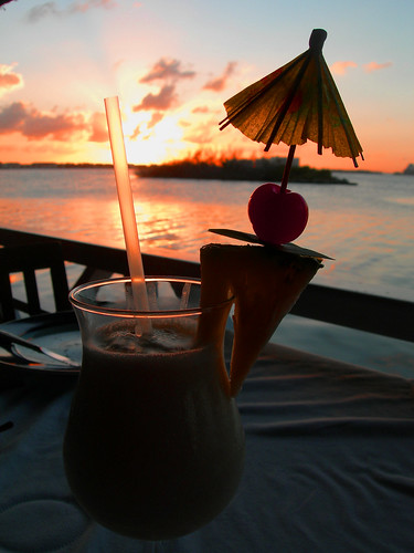 Sunset and Pina Colada or vice versa... | by Lall