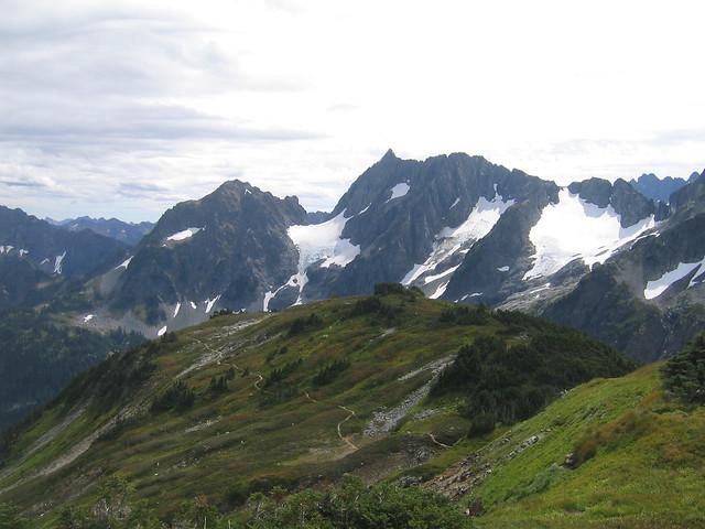 Pelton Peak And Yawning Glacier